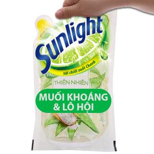 Nước rửa chén Sunlight Extra thiên nhiên muối khoáng và lô hội túi 725ml