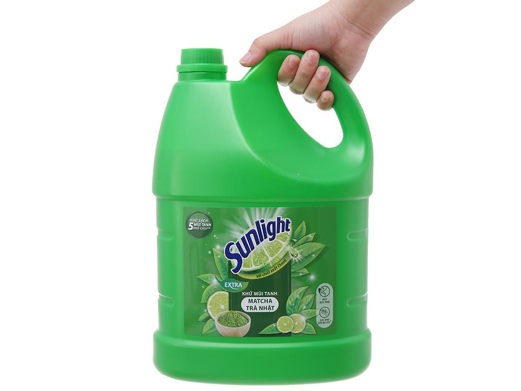 Nước rửa chén Sunlight Extra trà xanh matcha Nhật Bản 3.8kg 5