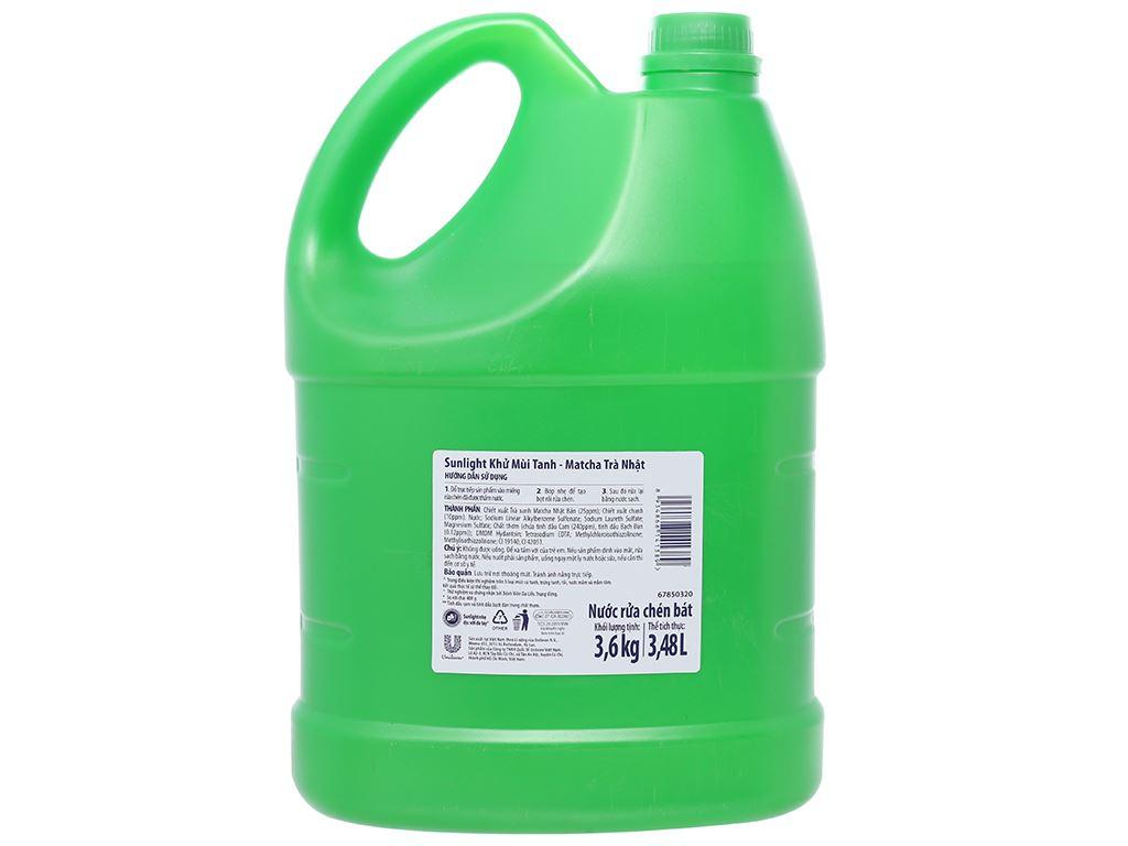 Nước rửa chén Sunlight Extra trà xanh matcha Nhật Bản can 3.48 lít 2