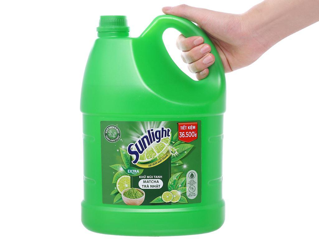 Nước rửa chén Sunlight Extra trà xanh Matcha Nhật Bản can 3.6kg 3