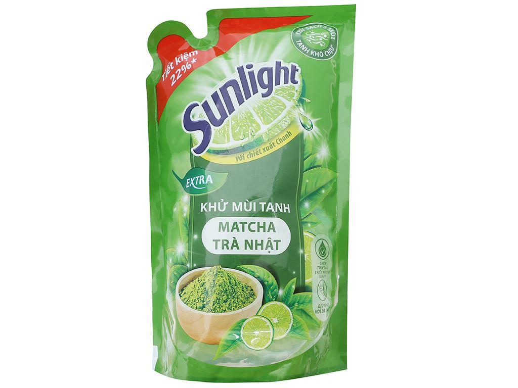Nước rửa chén Sunlight Extra trà xanh matcha Nhật Bản túi 750g 1