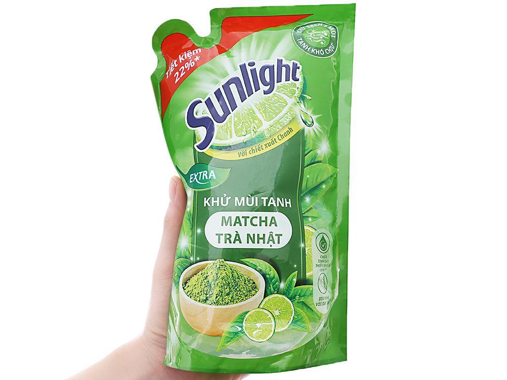 Nước rửa chén Sunlight Extra trà xanh matcha Nhật Bản túi 750g 3
