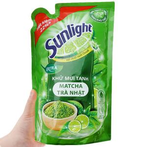 Nước rửa chén Sunlight Extra trà xanh matcha Nhật Bản túi 725ml
