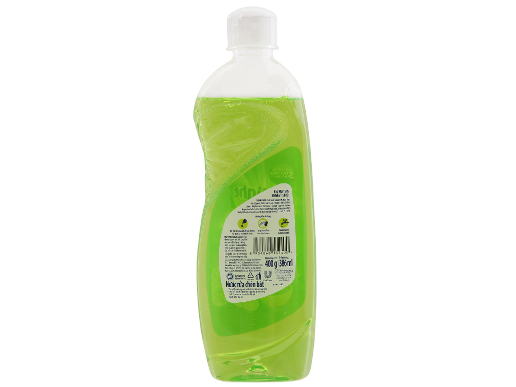 Nước rửa chén Sunlight Extra Trà xanh Matcha Nhật Bản 400g 3