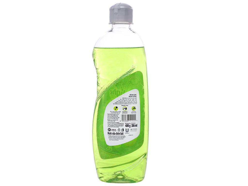 Nước rửa chén Sunlight Extra trà xanh matcha Nhật Bản chai 400g 3