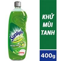 Nước rửa chén Sunlight hương Trà xanh và Chanh chai 400g