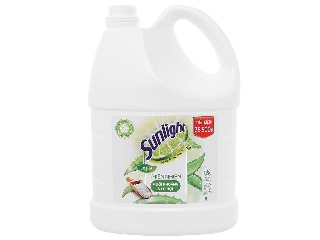 Nước rửa chén Sunlight Extra thiên nhiên muối khoáng và lô hội can 3.48 lít 1