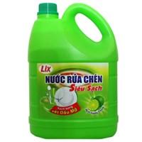 Nước rửa chén Lix Siêu sạch hương Chanh can 4kg