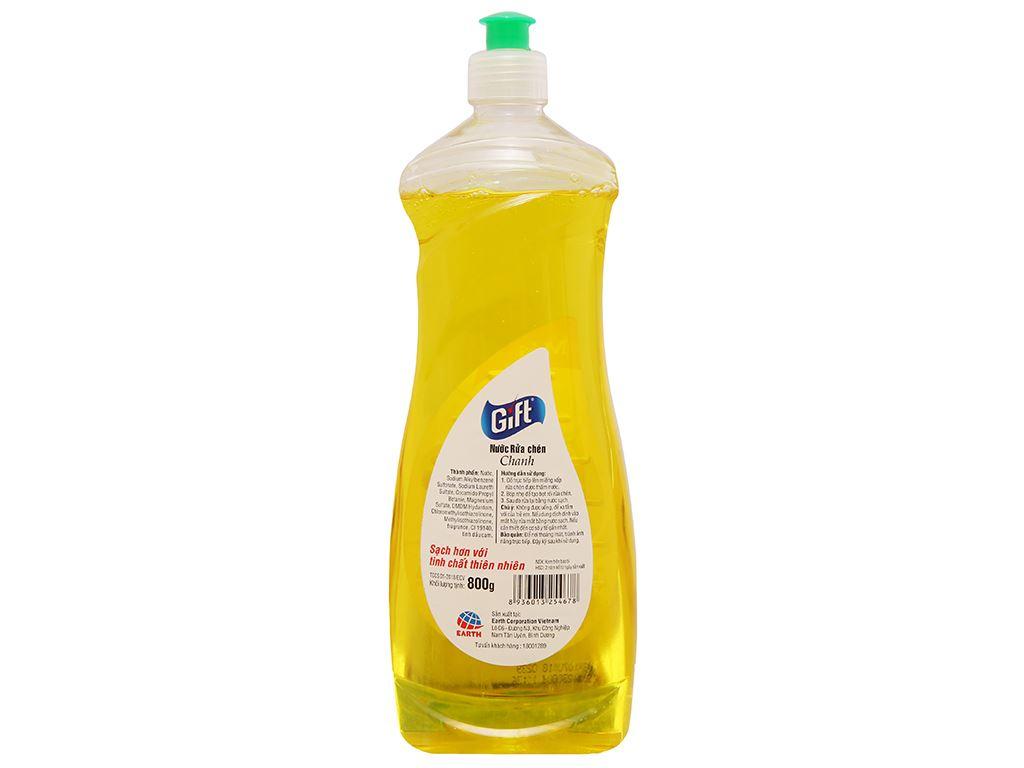 Nước rửa chén Gift hương chanh chai 800g 2