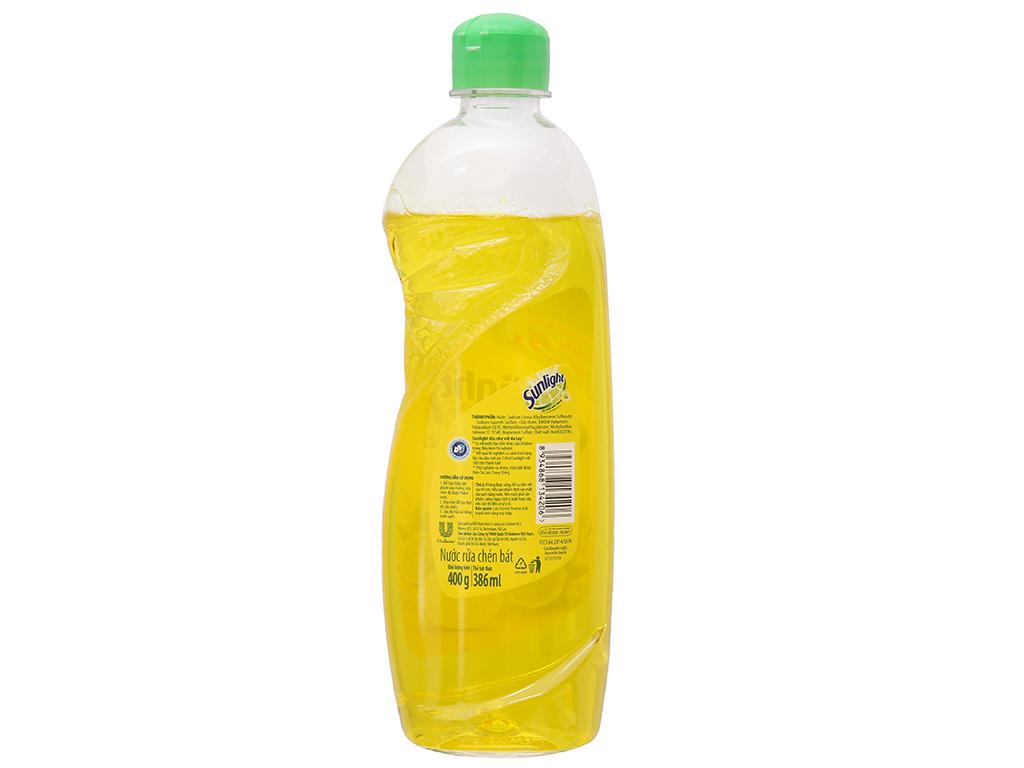 Nước rửa chén Sunlight Chanh 100 chiết xuất chanh tươi chai 400g 3