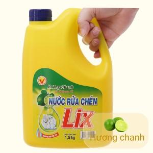 Nước rửa chén Lix Vitamin E hương chanh can 1.47 lít