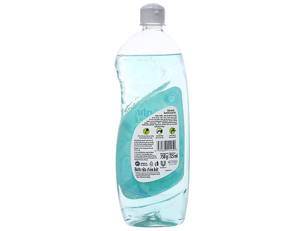 Nước rửa chén Sunlight Extra diệt khuẩn chanh và lá bạc hà chai 750g 2