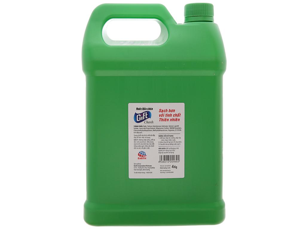 Nước rửa chén Gift hương chanh 4kg 3