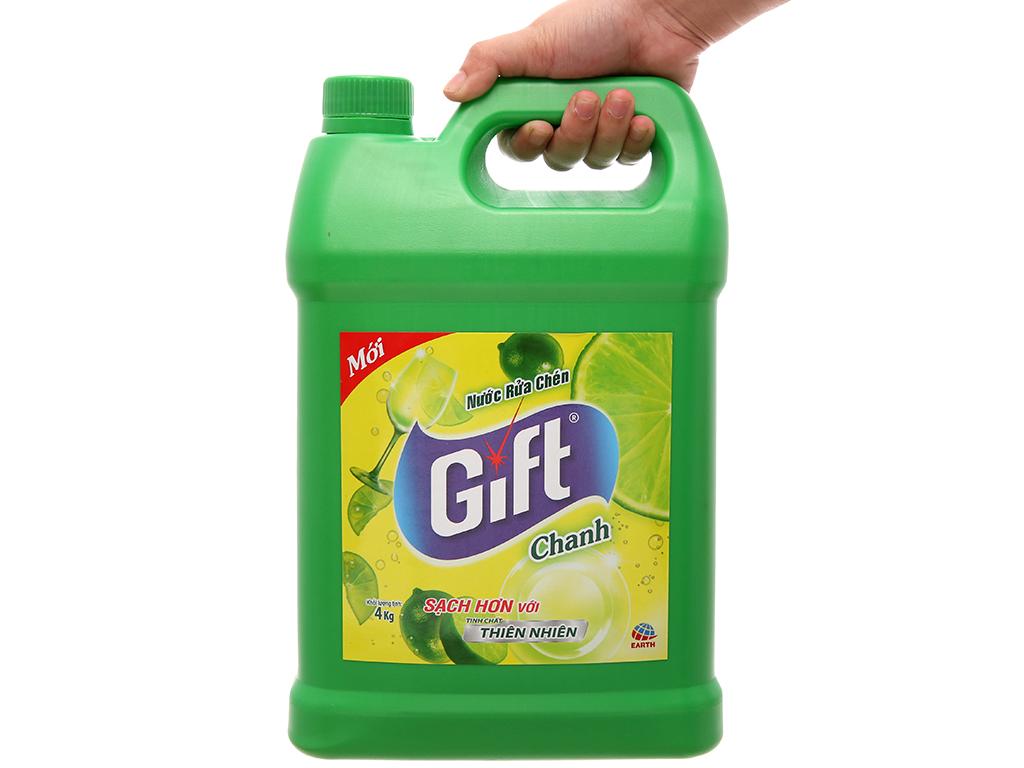 Nước rửa chén Gift hương chanh 4kg 5
