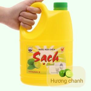 Nước rửa chén NET Sạch Vitamin E hương chanh can 1.46 lít