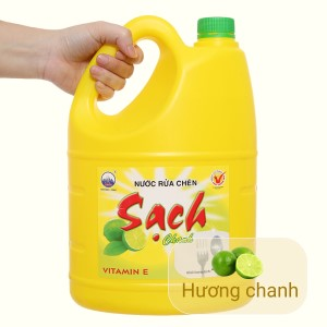 Nước rửa chén NET Sạch Vitamin E hương chanh can 3.88 lít