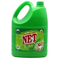 Nước rửa chén Net tinh chất Trà Xanh can 4kg