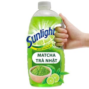 Nước rửa chén Sunlight Extra trà xanh matcha Nhật Bản chai 1.5kg