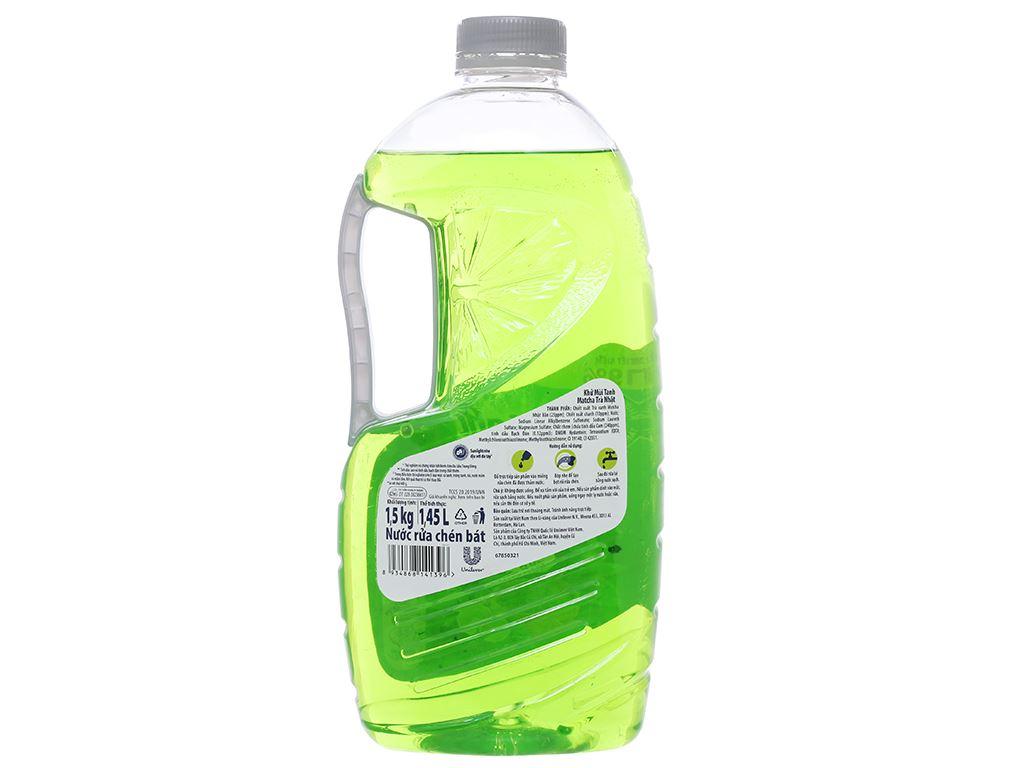 Nước rửa chén Sunlight Extra trà xanh matcha Nhật Bản chai 1.5kg 2