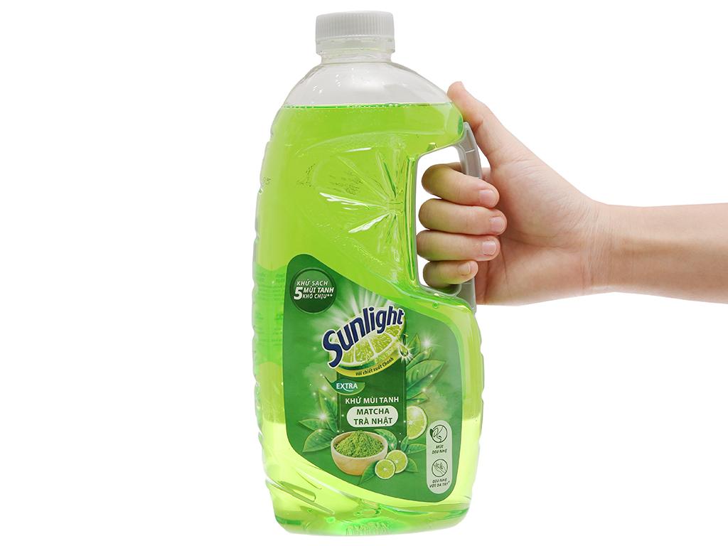 Nước rửa chén Sunlight Extra Trà xanh Matcha Nhật Bản 1.5kg 4
