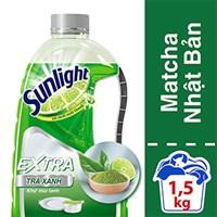 Nước rửa chén Sunlight hương Chanh Matcha Nhật Bản chai 1,5kg