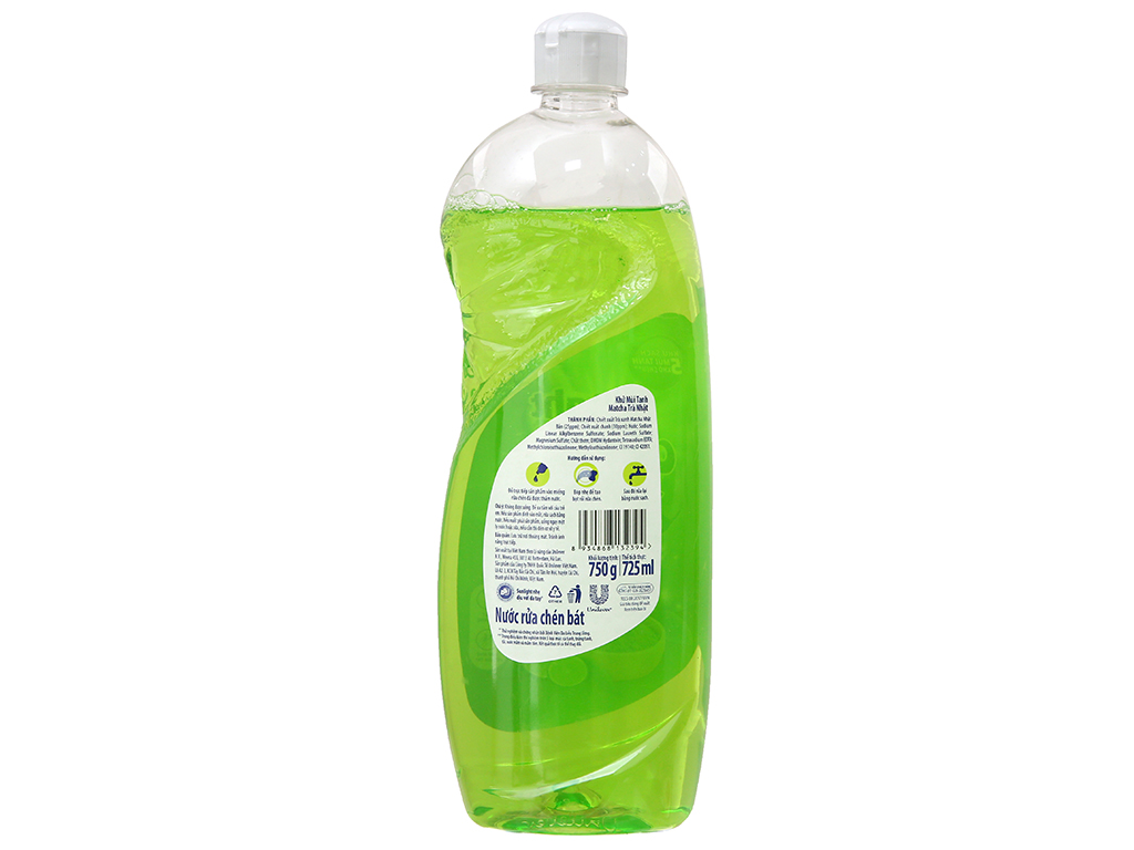 Nước rửa chén Sunlight Extra Trà xanh Matcha Nhật Bản 750g 3
