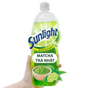 Nước rửa chén Sunlight Extra trà xanh matcha Nhật Bản chai 750g