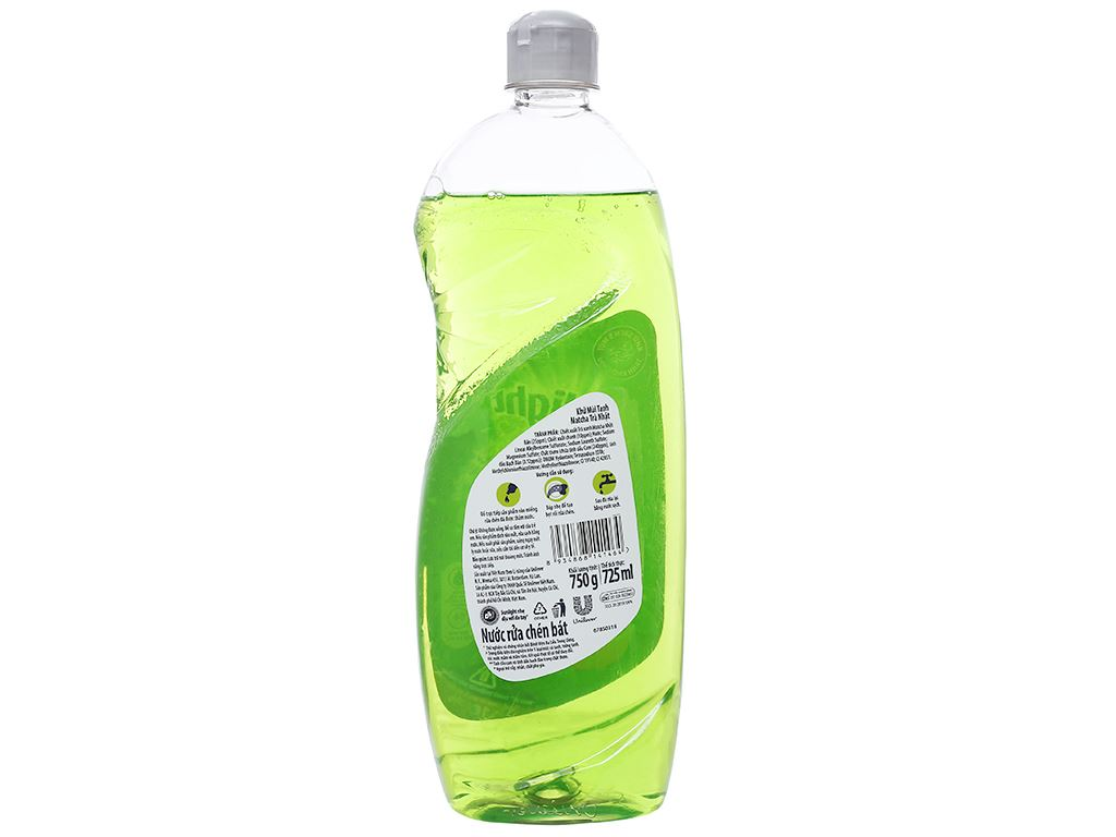 Nước rửa chén Sunlight Extra trà xanh matcha Nhật Bản chai 725ml 2