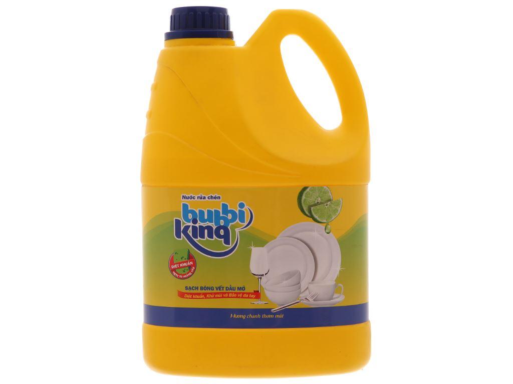 Nước rửa chén Bubbi Kinq hương chanh can 1.5kg 2
