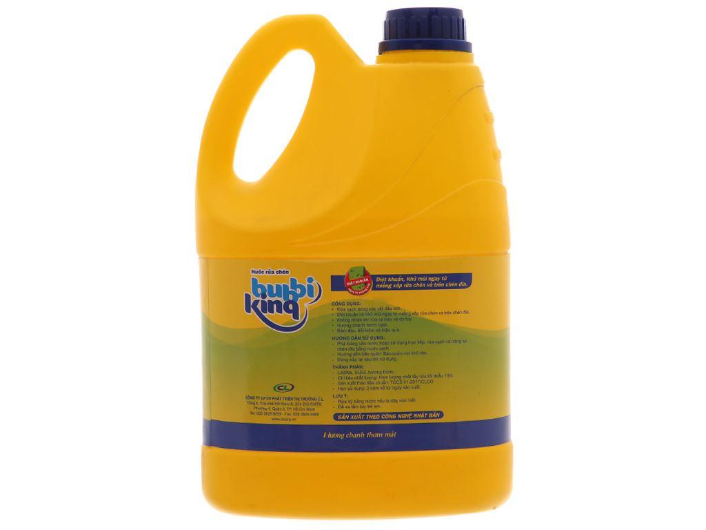 Nước rửa chén Bubbi Kinq hương chanh can 1.5kg 3