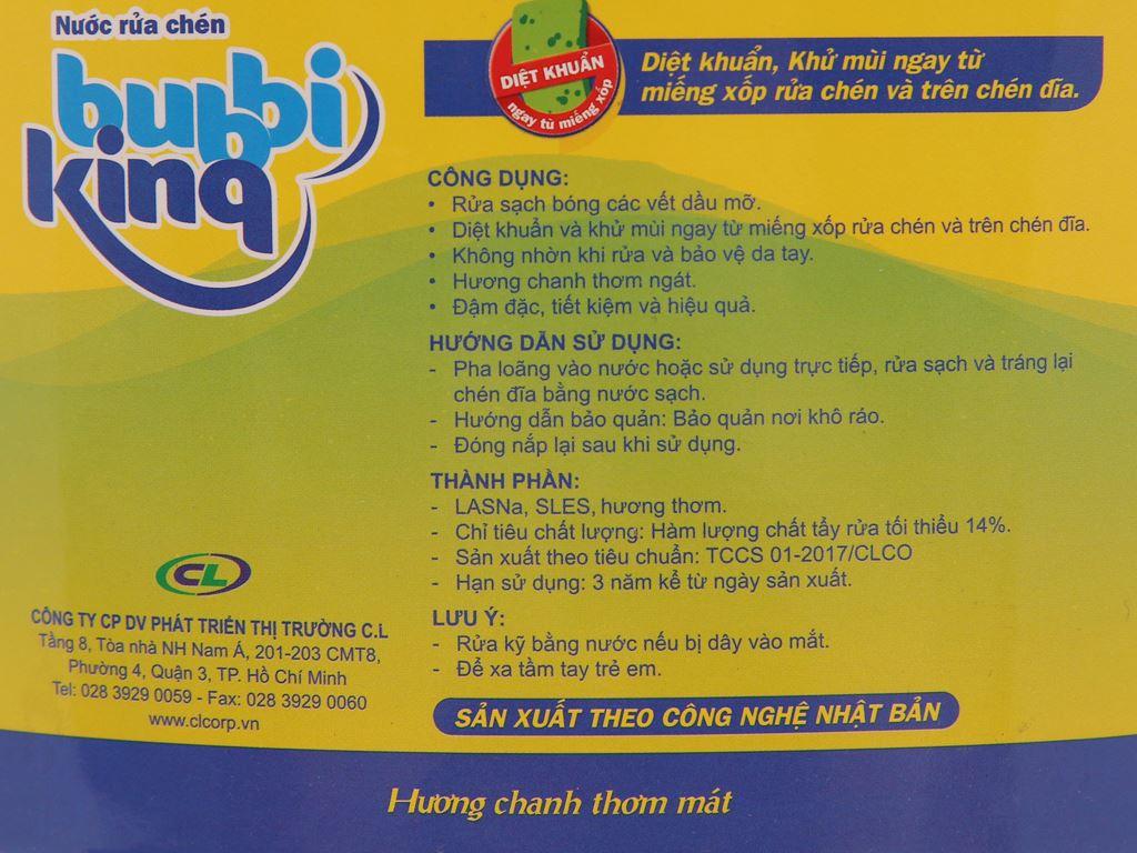 Nước rửa chén Bubbi Kinq hương chanh can 1.5kg 4
