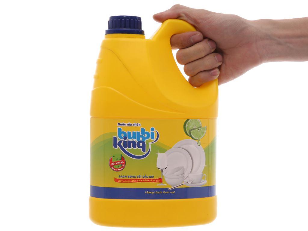 Nước rửa chén Bubbi Kinq hương chanh can 1.5kg 5