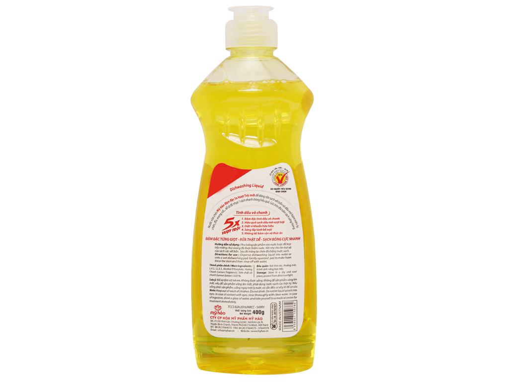 Nước rửa chén Mỹ Hảo 5X đậm đặc chai 400g 3