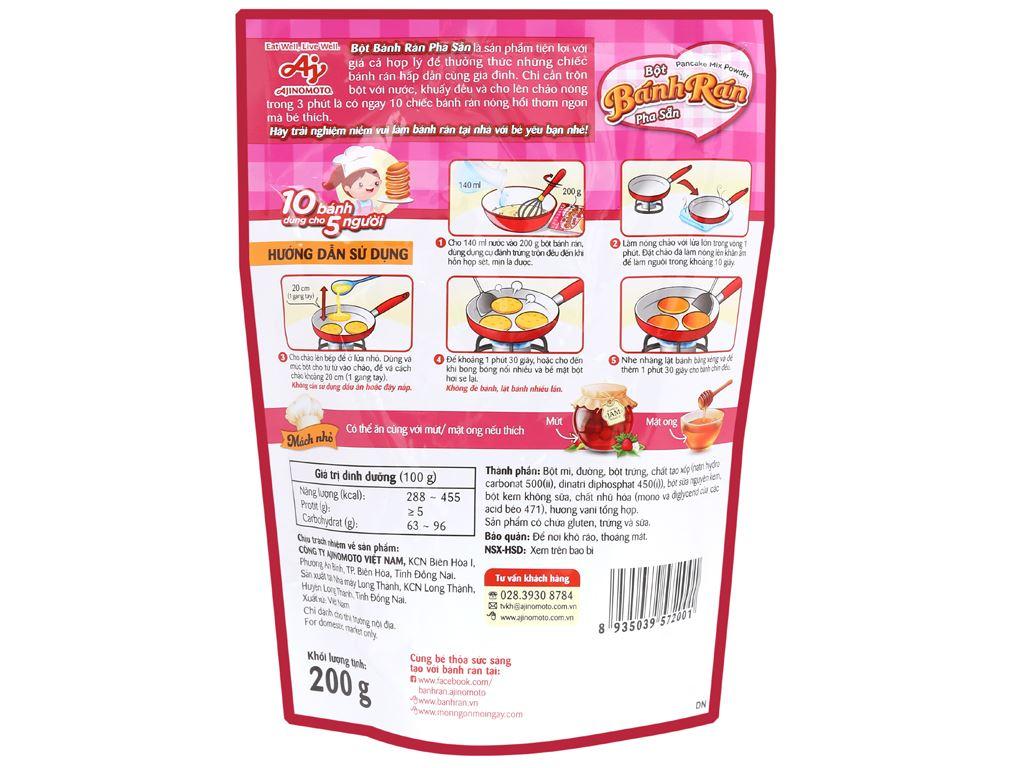Bột bánh rán Ajinomoto vị truyền thống gói 200g 7