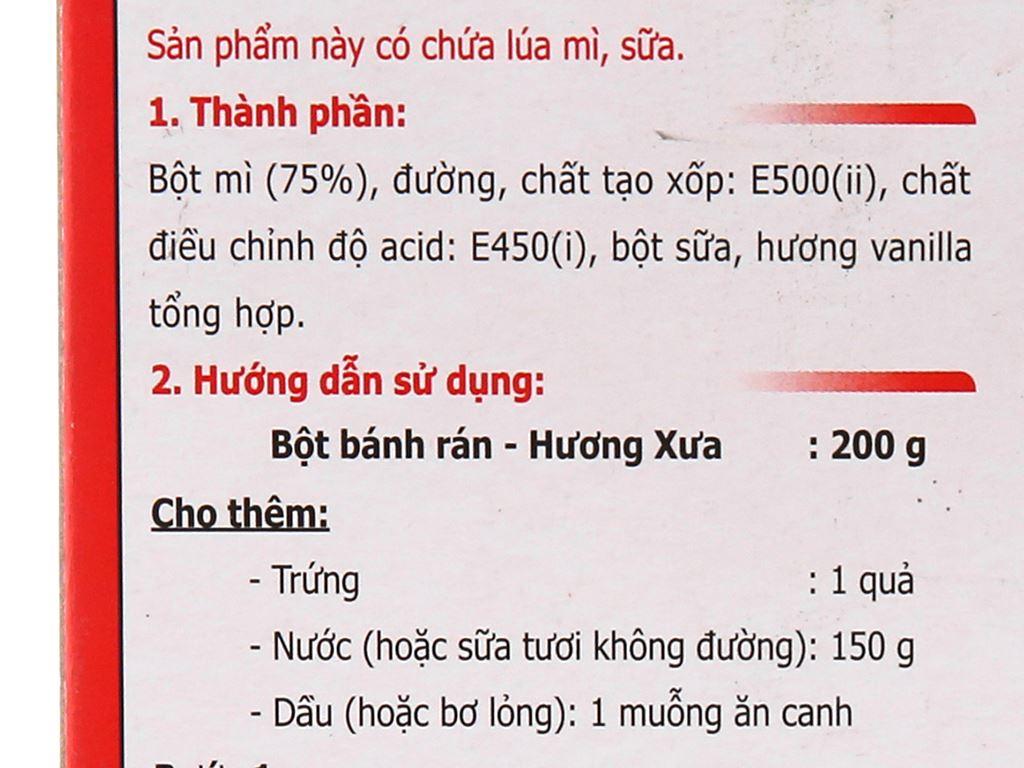 Bột bánh rán Mikko Hương Xưa hộp 200g 5