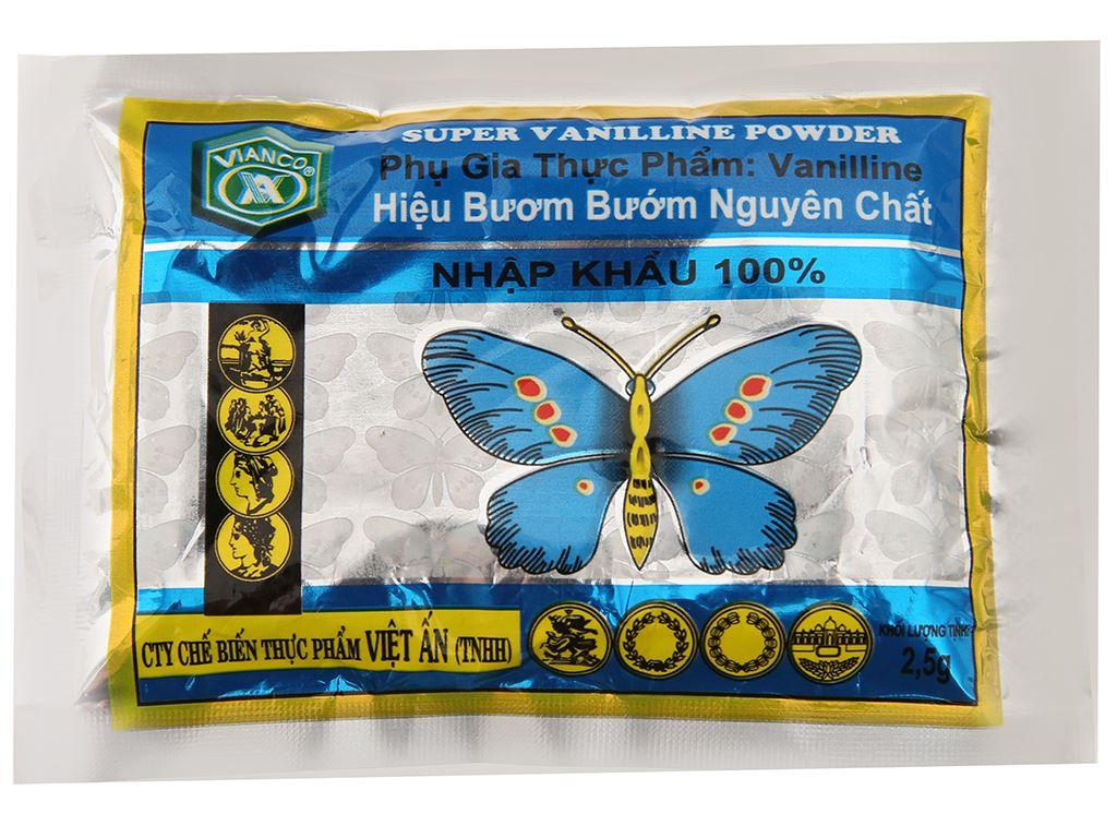 Bột thơm vani Vianco Hiệu Bươm bướm gói 2,5g 1