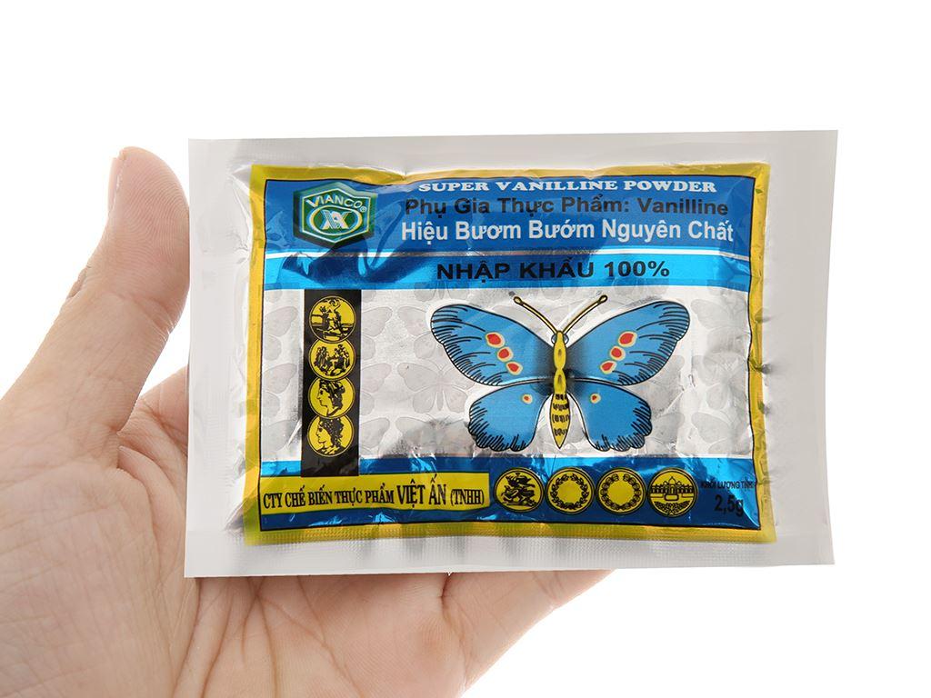 Bột thơm vani Vianco Hiệu Bươm bướm gói 2,5g 3