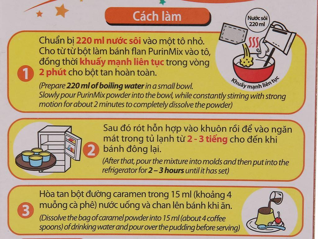 Bột bánh flan House Foods Purin Mix hương vị trứng hộp 55g 3