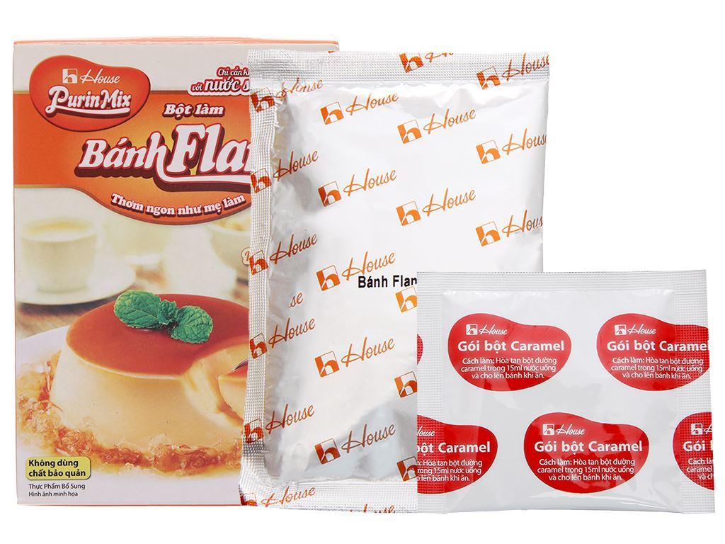 Bột bánh flan House Foods Purin Mix hương vị trứng hộp 55g 5