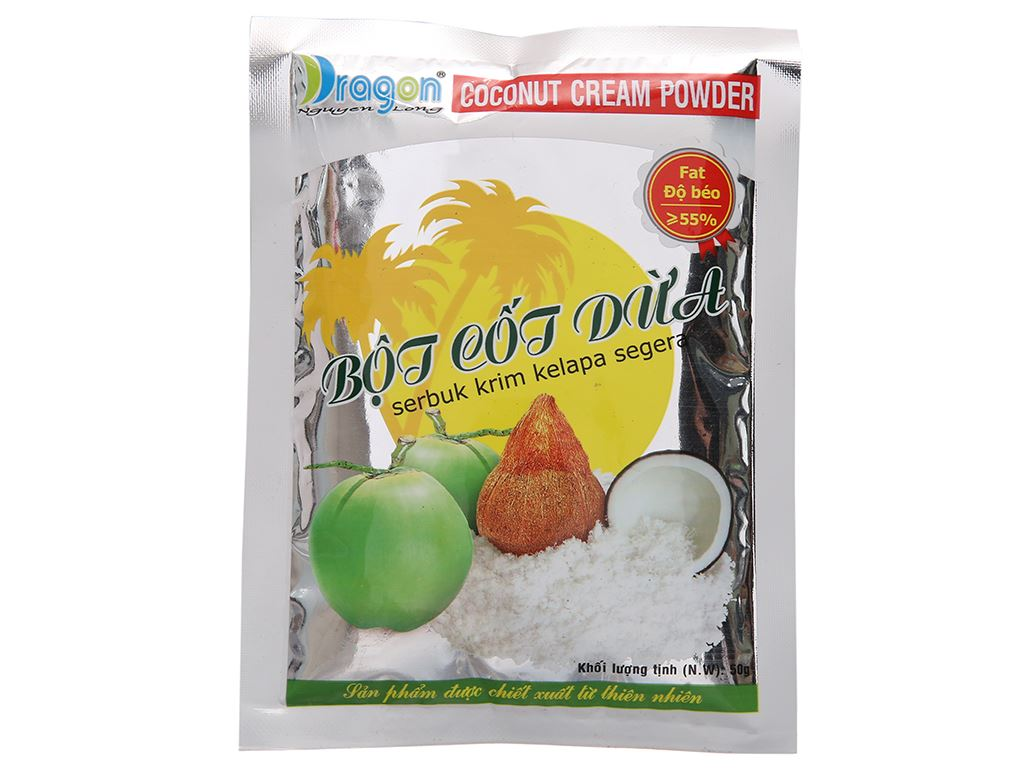 Bột cốt dừa Dragon 55% béo gói 50g 2