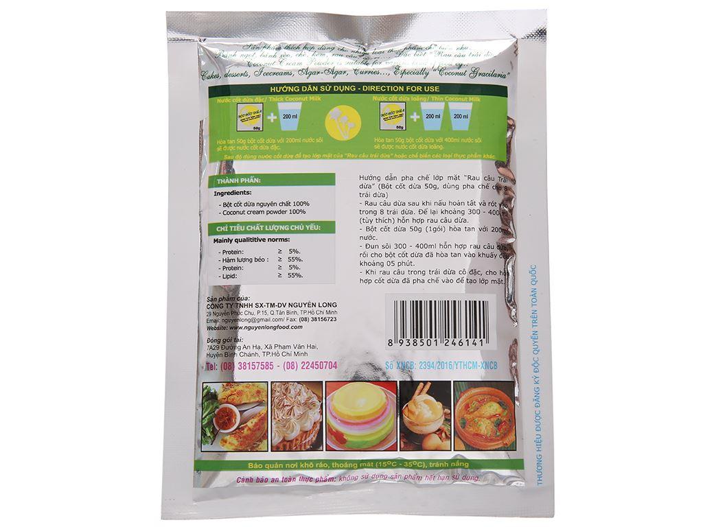 Bột cốt dừa Dragon 55% béo gói 50g 3