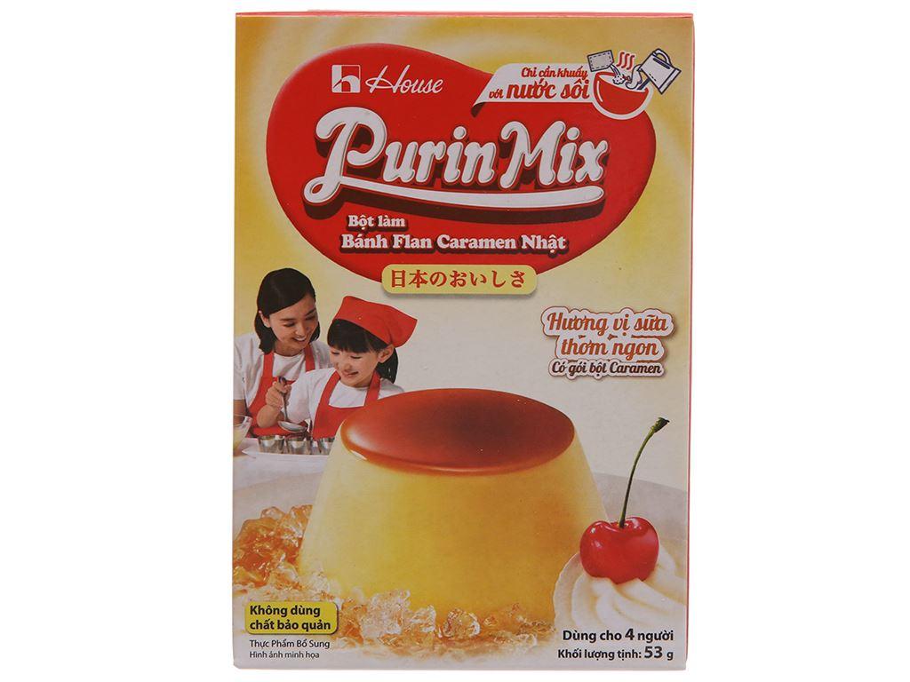 Bột bánh flan House Foods Purin Mix hương vị sữa hộp 53g 2