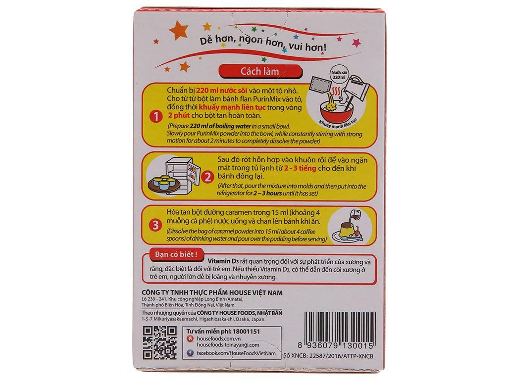 Bột bánh flan House Foods Purin Mix hương vị sữa hộp 53g 3