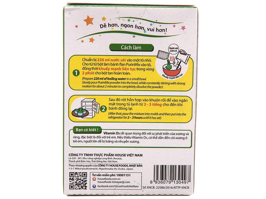 Bột làm bánh flan Nhật House Foods Purin Mix vị trà xanh hộp 46g 3
