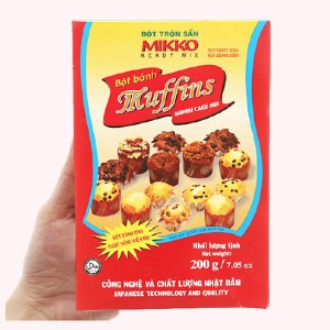 Bột bánh muffins Mikko hộp 200g
