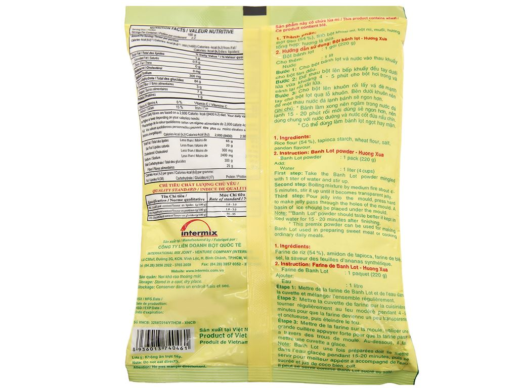 Bột bánh lọt Mikko Hương Xưa gói 220g 3