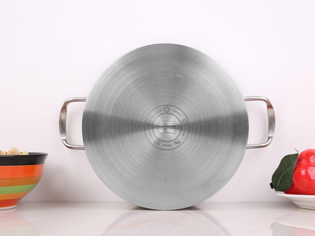 Bộ nồi xửng inox 430 3 đáy Sunhouse SSP25124 24cm 6