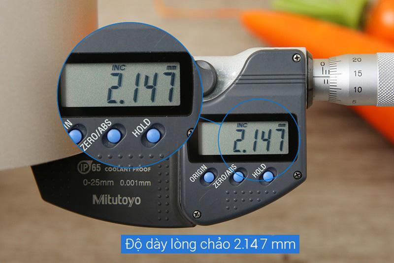 Độ dày nồi 2.147 mm - Nồi nhôm chống dính đáy từ 20 cm Tefal H9104414