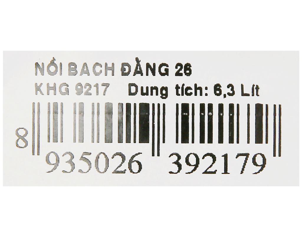 Nồi nhôm Kim Hằng Bạch Đằng KHG9217 26cm 7