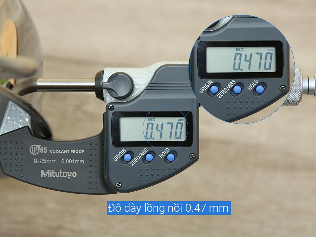 Nồi lẩu inox 3 đáy Rainy RN 24-LTT-3DK 24cm 6